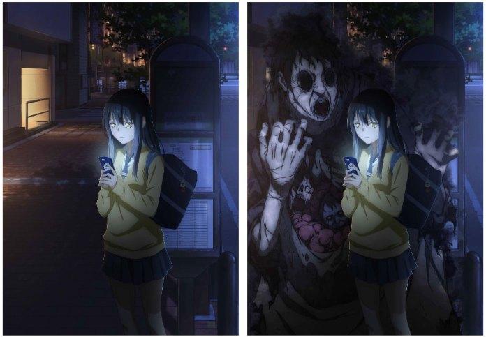 Mieruko-chan visuals