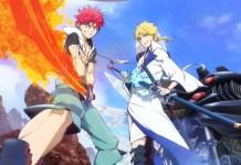Imagem promocional e staff da série anime Orient