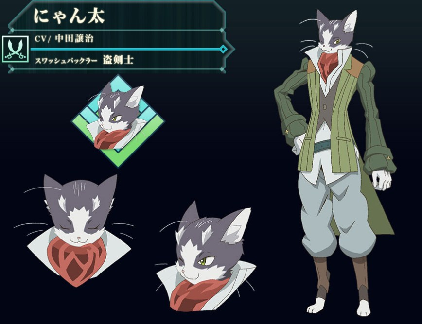 Log-Horizon-Season-2-Character-Design-Nyanta