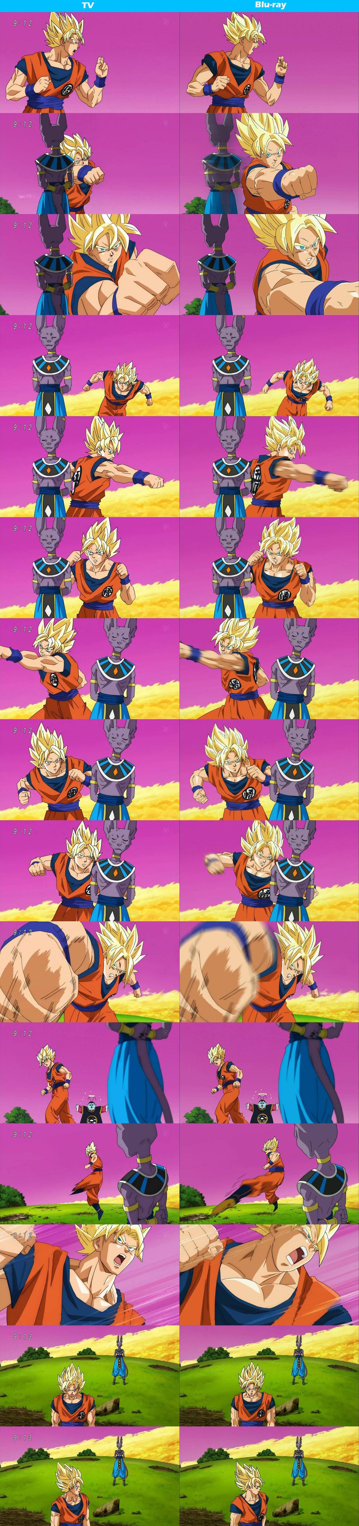 Dragon ball super tv and blu ray comparisons otaku tale