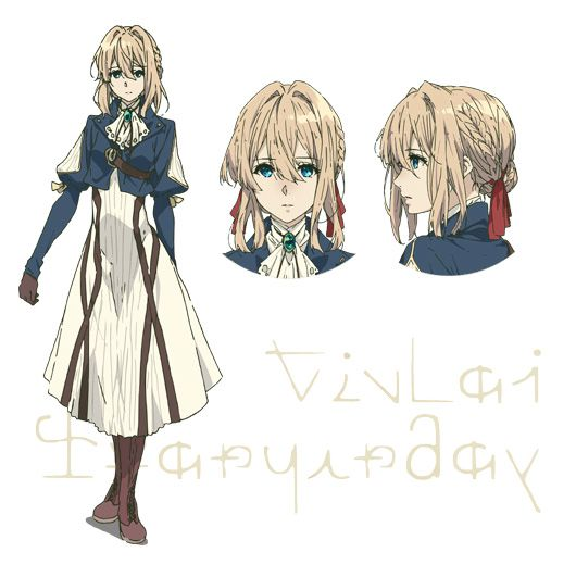 Character Design Tutorial Manga : Violet evergarden anime cast character designs revealed
