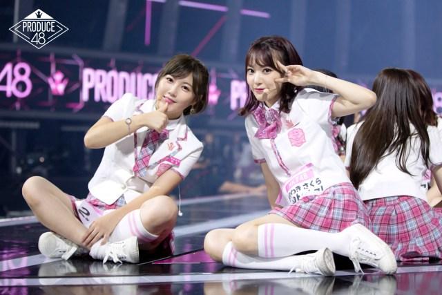 Miho Miyazaki and Sakura Miyawaki on Produce48