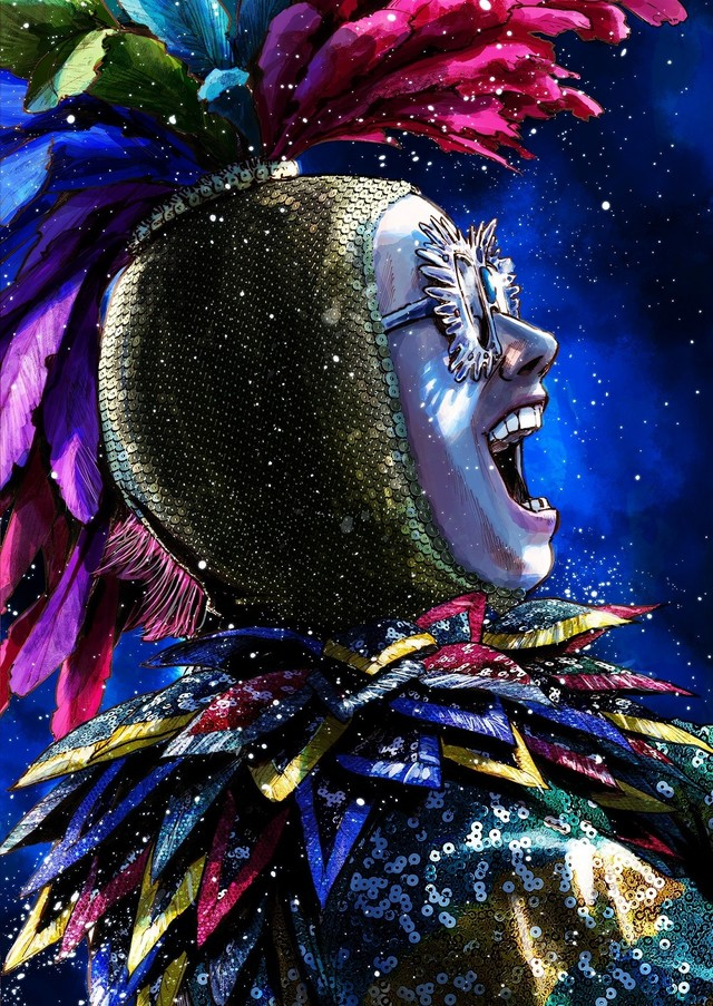 Inio Asano Illustrates Elton John For Film Poster