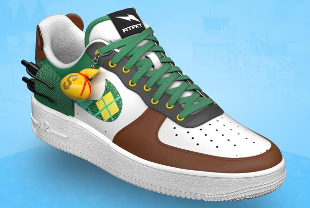 Tom Nook Nike Air Force 1