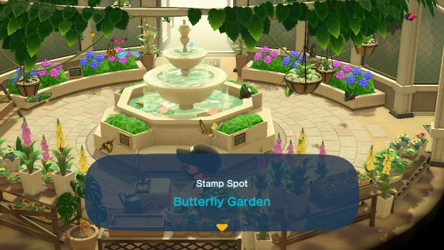 Animal Crossing: New Horizons Stamp Rally: Butterfly Garden Stamp Station