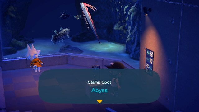 Animal Crossing: New Horizons Stamp Rally: Abyss Stamp Station