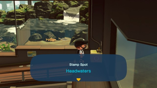 Animal Crossing: New Horizons Stamp Rally: Headwaters Stamp Station
