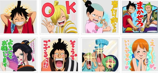 One Piece LINE stamps
