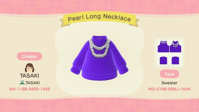 Pearl Long Necklace Shirt