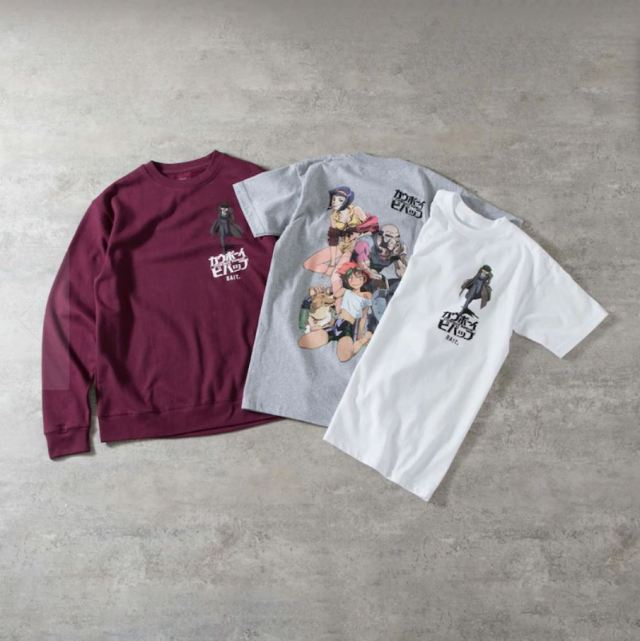 Articles from the BAIT x Anime Cowboy Bebop Fashion Collection
