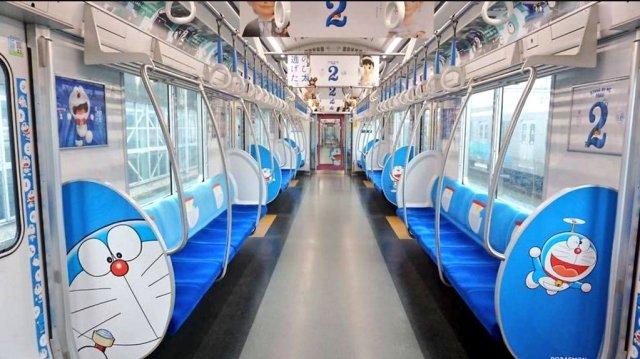 Doraemon Train Inside