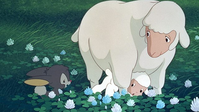 Screenshot from anime film Ringing Bell