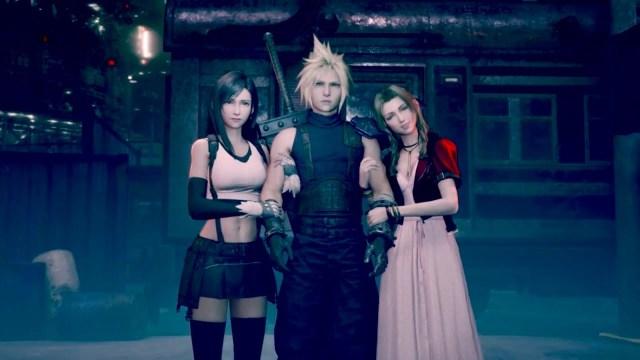 Cloud, Aerith, Tifa Final Fantasy VII Remake