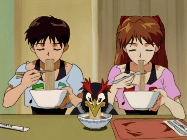 Screenshot from Neon Genesis Evangelion episode 9