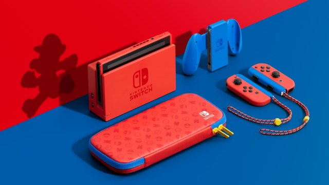 Mario Red and Blue Nintendo Switch Console