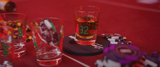 Red Bunny Capsule Shot glass
