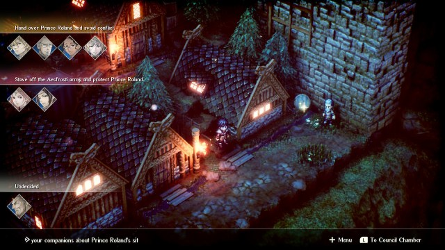 Project Triangle Strategy game screenshot