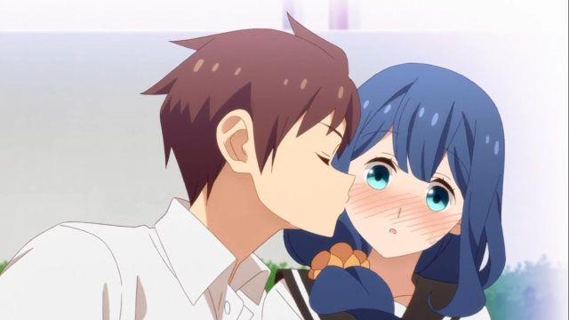 tsuredure children takeru kissing ayaka on the cheek