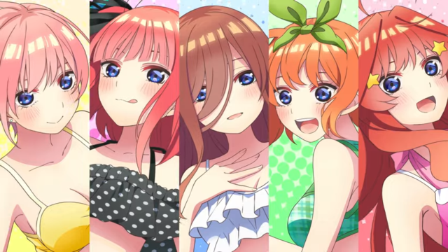 'The Quintessential Quintuplets ∬: Summer Memories Also Come in Five' Characters
