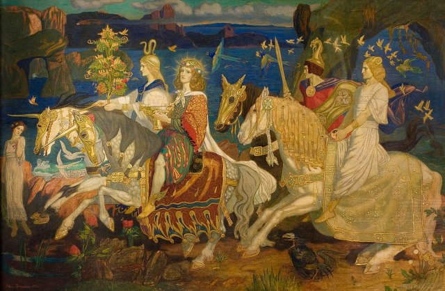 The Tuatha Dé Danann as depicted in John Duncan's 'Riders of the Sidhe' (1911)