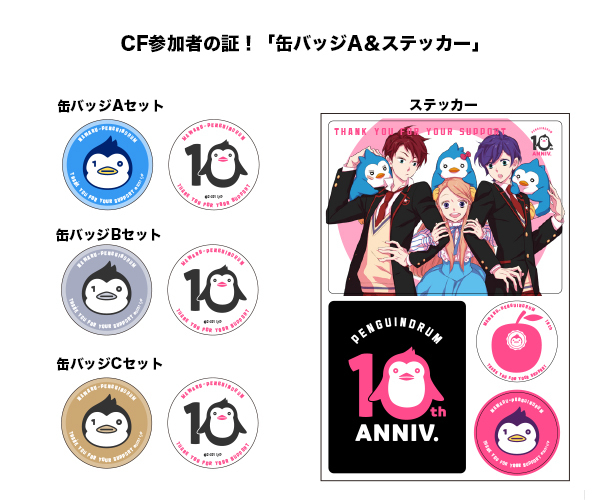 Re:cycle of the Penguindrum Can Badges