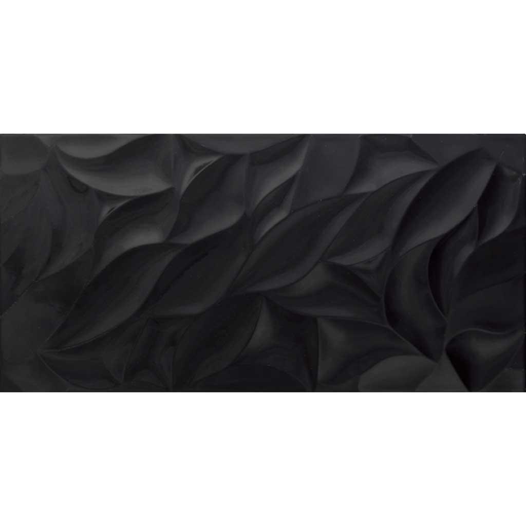 3d tulip black gloss 300 600 otc tiles bathroom