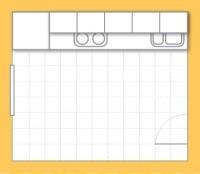 однолинейная планировка кухни