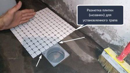 разметка для укладки мозаики
