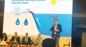 Berend Jan Kleute, Co-Founder of Bluerise, in Oman to present the opportunities of Ocean Thermal Energy for Oman.