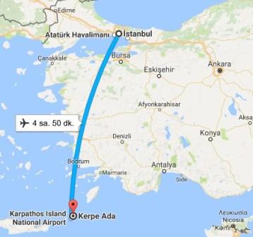 Karpathos Adasına Nasıl gidilir?