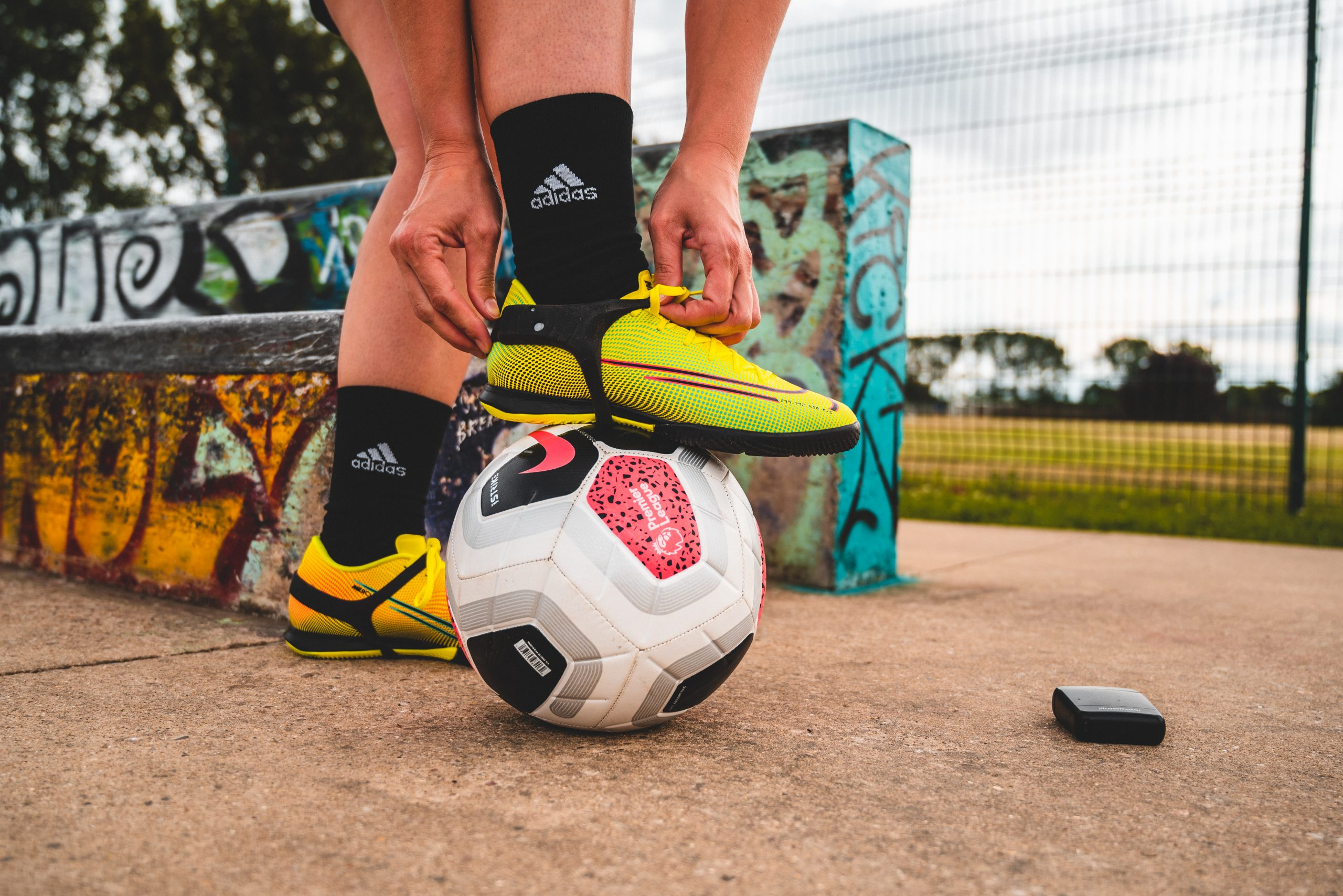 Otelli marketing working with a football company Playermaker on a photography shoot. Sport marketing
