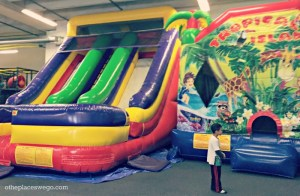 Jump around with two inflatables at Fun Republic St. Charles Illinois