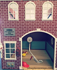 Cute little town at Fun Republic St. Charles features a firestation.