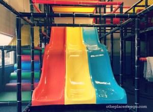 Slide down at Fun Republic St. Charles Illinois