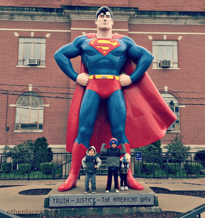 A family friendly visit to Metropolis in Southern Illinois, the home of Superman.