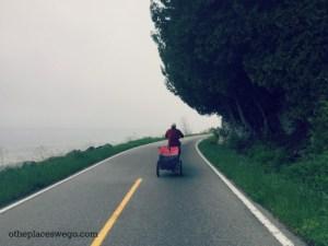 Biking Mackinac Island - Foggy Road