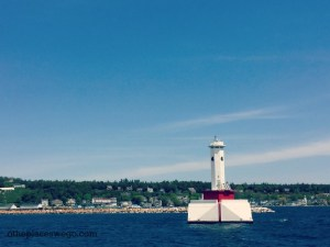 Star Line Mackinac Ferry - Views of the Lighthouse
