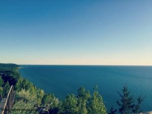 Road to Ludington Michigan - Inspiration Point Arcadia View