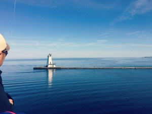 SS Badger Carferry - Passing North Breakwater Light