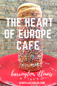The Heart of Europe Cafe specializes in making kurtos, or chimney cakes, in Barrington, Illinois