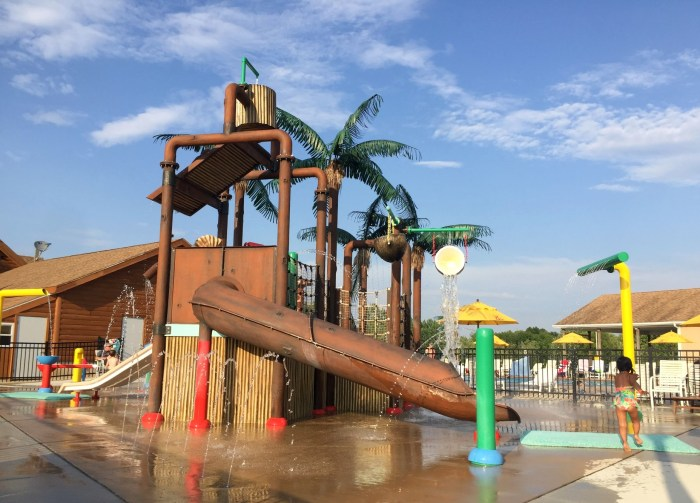 Family camping fun at Covert South Haven KOA with fun activities to keep the family entertained