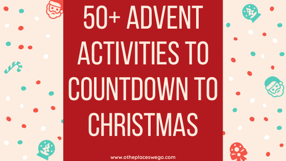 Looking to fill your Advent calendar with activities. I've listed more than 50 advent activities to fill your calendar. From ice skating and making snowman to making a hot chocolate bar or enjoying the dazzling lights, here are Advent activities from you to pick from.