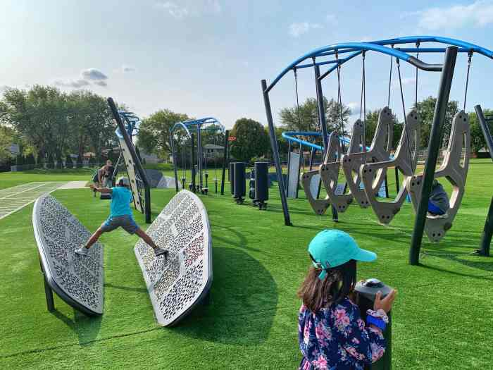 Check out this ninja park in Schaumburg's Meineke Park perfect for those that want to practice their skills on the obstacle course.