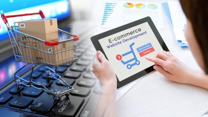 ilustrasi menjual barang di situs ecommerce
