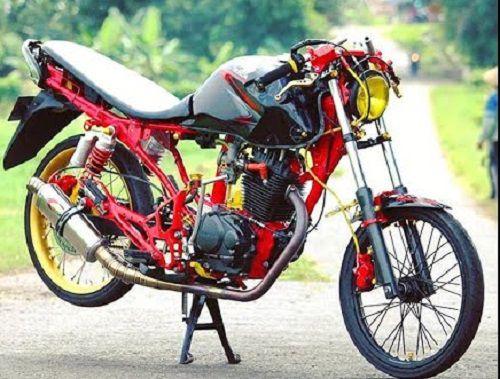 Modifikasi Honda Tiger Drag