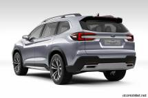 2018 Subaru Ascent SUV Concept arka görünüm bagaj kapağı egzost