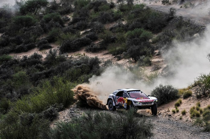 309 LOEB SEBASTIEN - ELENA DANIEL - TEAM PEUGEOT TOTAL PEUGEOT 3008 DKR action during the Dakar 2017 Paraguay Bolivia Argentina , Etape 11 - Stage 11, San Juan - Rio Cuarto, January 13 - Photo DPPI