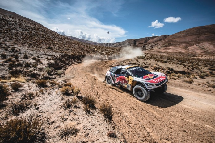 Stephane Peterhansel (FRA) of Team Peugeot TOTAL races during stage 4 of Rally Dakar 2017 from San Salvador de Jujuy, Argentina to Tupiza, Bolivia on January 5, 2017.