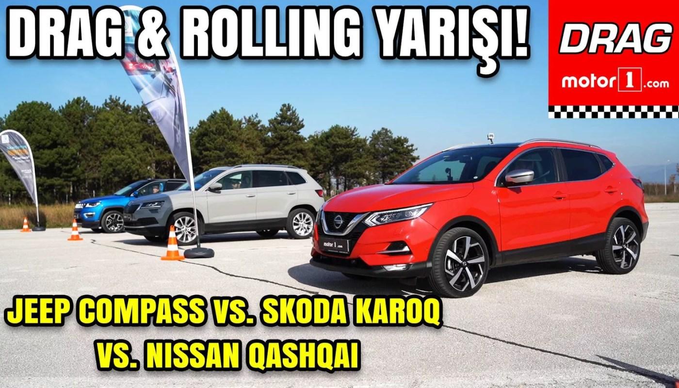 Nissan Qashqai vs Skoda Karoq vs Jeep Compass