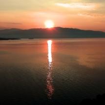 Sonnenuntergang über dem Ionischen Meer